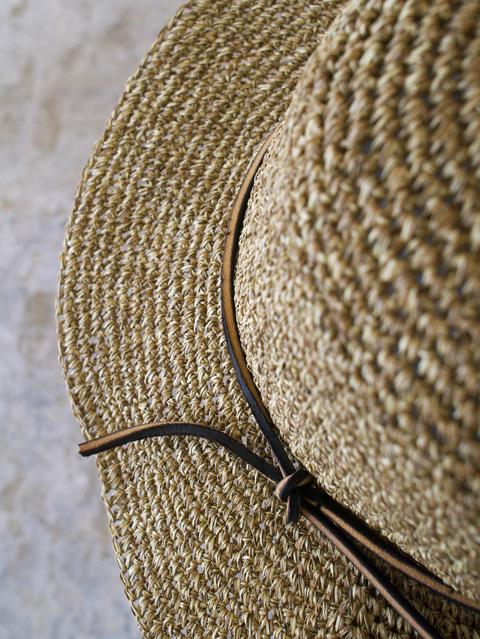 Mighty Shine マイティーシャイン Paul Natural Hat ¥8,000 + tax サイズ調整可能 ブリムにワイヤー搭載