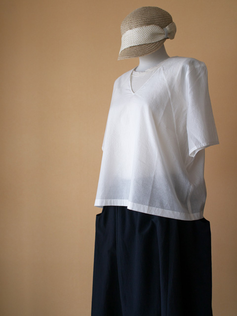 evam eva エヴァムエヴァ chambray cotton silk PO ¥16,000 + tax cotton bamboo sarrouel easy PT ¥17,000 + tax La Maison de Lyllis メゾンリリス CUPS ¥10,000 + tax