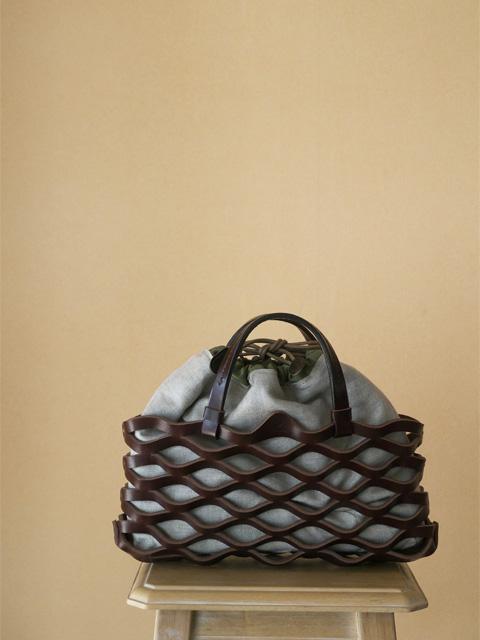 Teha'amana テハマナ Leather Mesh Tote S ¥23,000 + tax