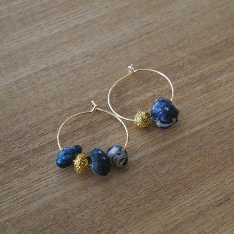 Suno & Morrison スノアンドモリソン cotton stone circle pierce ¥4,000 + tax ダーク