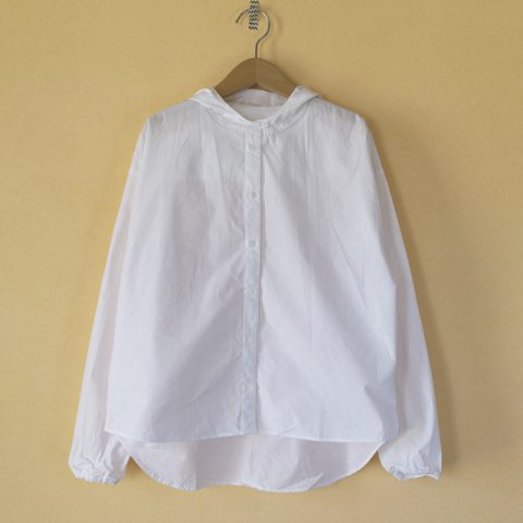 (g) グラム コットンタイプライタークロスフードシャツ
