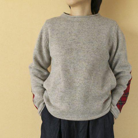 快晴堂 kaiseidou シェットランド エルボータータンセーター
