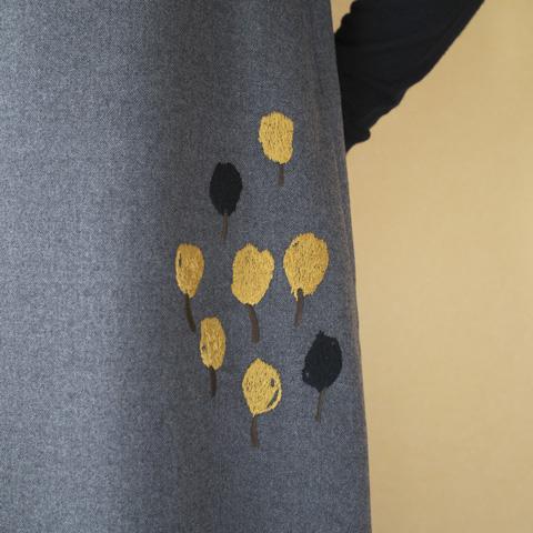 one piece : atelier naruse アトリエナルセ ウール chamomile 刺繍ワンピース