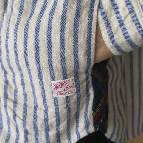 快晴堂 カイセイドウ タータン脇きりかえ・UNIシャツ