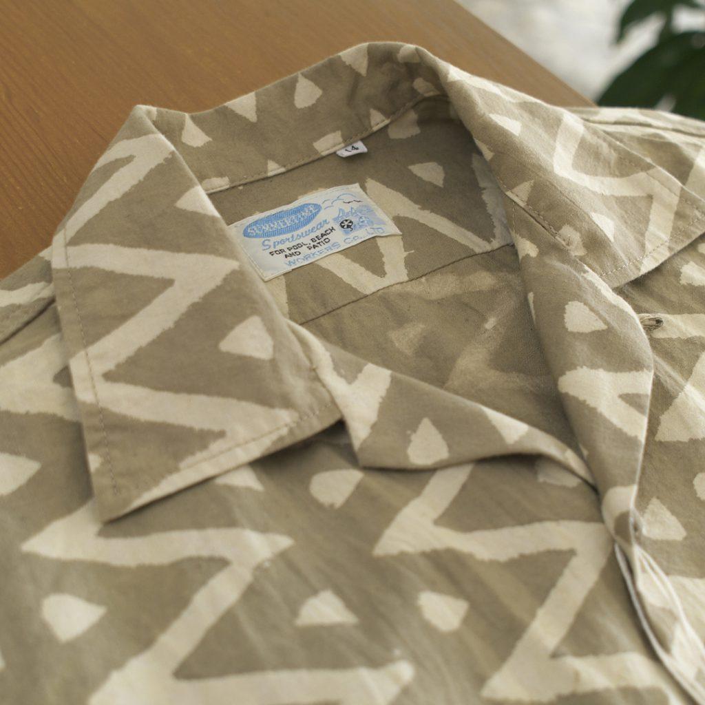WORKERS ワーカーズ open collar shirt オープンカラーシャツ