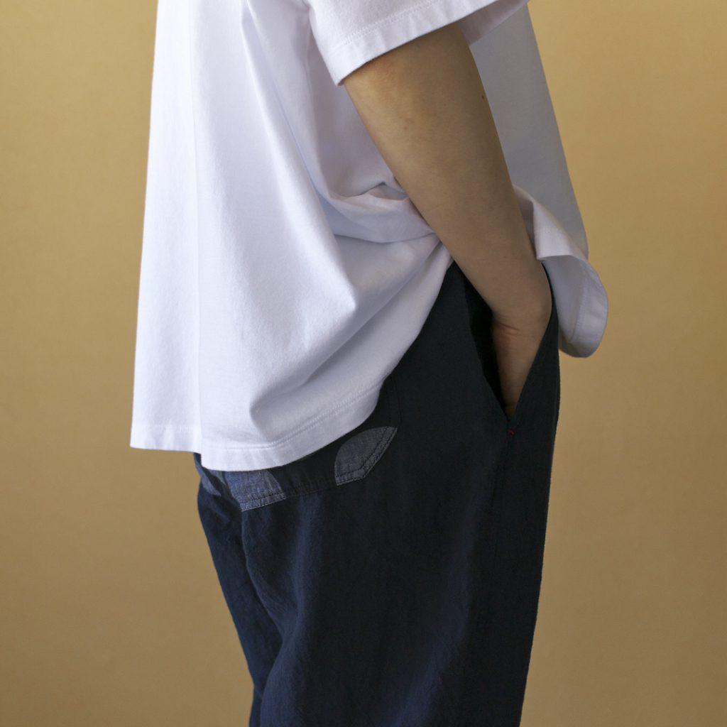快晴堂 カイセイドウ 大きな水玉サイド紐イージーパンツ