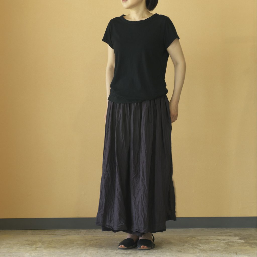 Gauze# ガーゼ G397 khadi cotton gather skirt カデイコットン ギャザースカート
