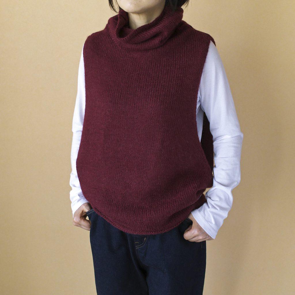 快晴堂 カイセイドウ ルパシカ・セーターシリーズ オフタートルベスト