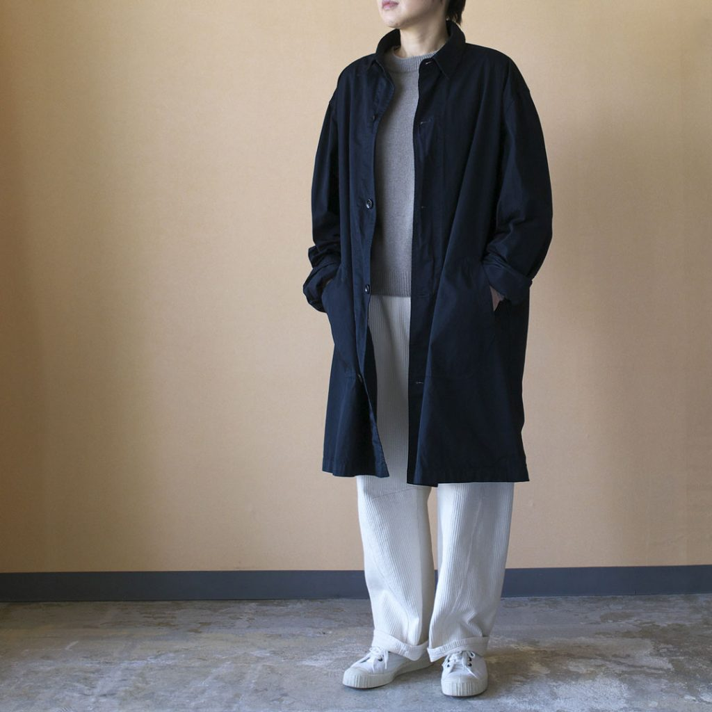 Manual Alphabet マニュアルアルファベット gaberdine overdyed shirt coat
