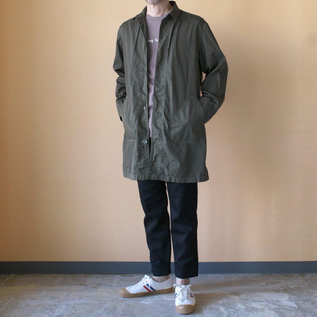 Manual Alphabet マニュアルアルファベット gaberdine overdyed shirt coat 2 製品染めコットンギャバシャツコート2