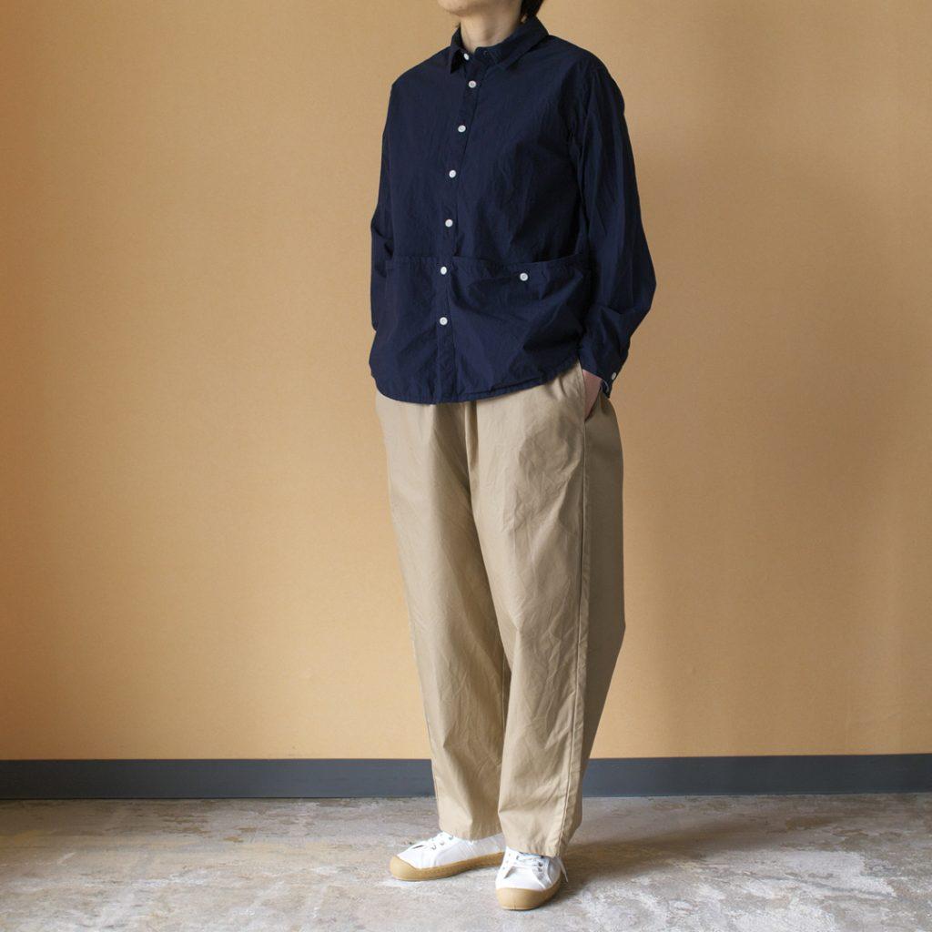 快晴堂 カイセイドウ タイプライタークロス UNI 5ポケットシャツ