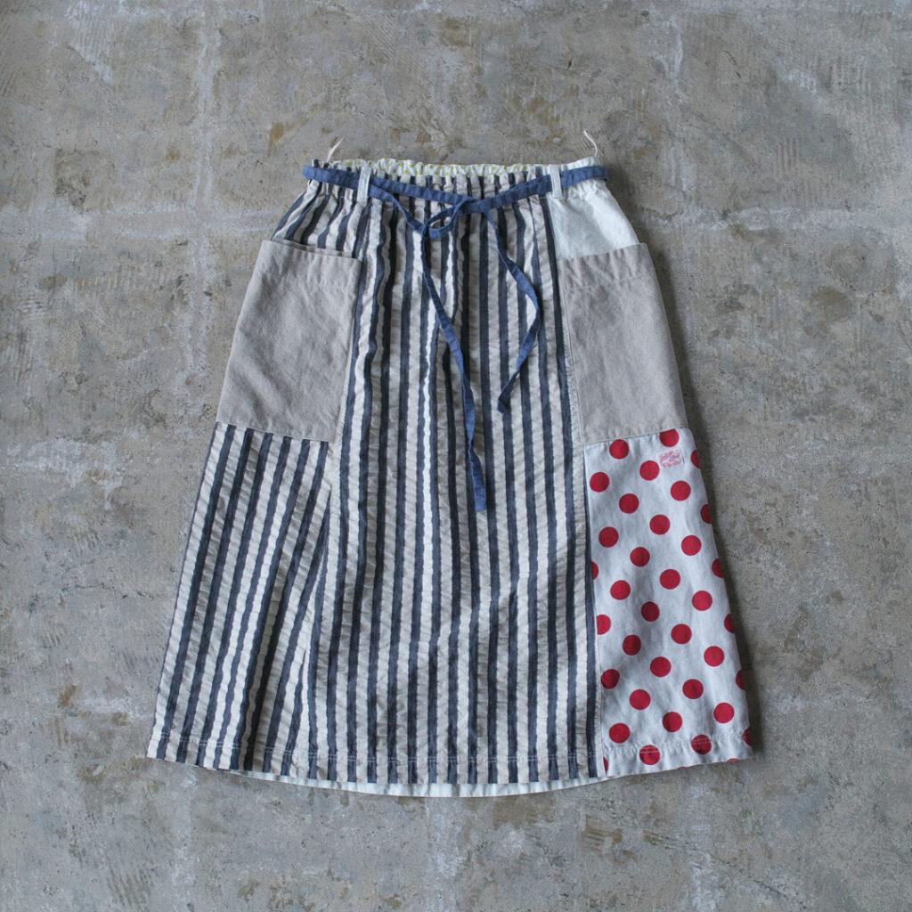 快晴堂 カイセイドウ 水玉とストライプ ソレイユスカート