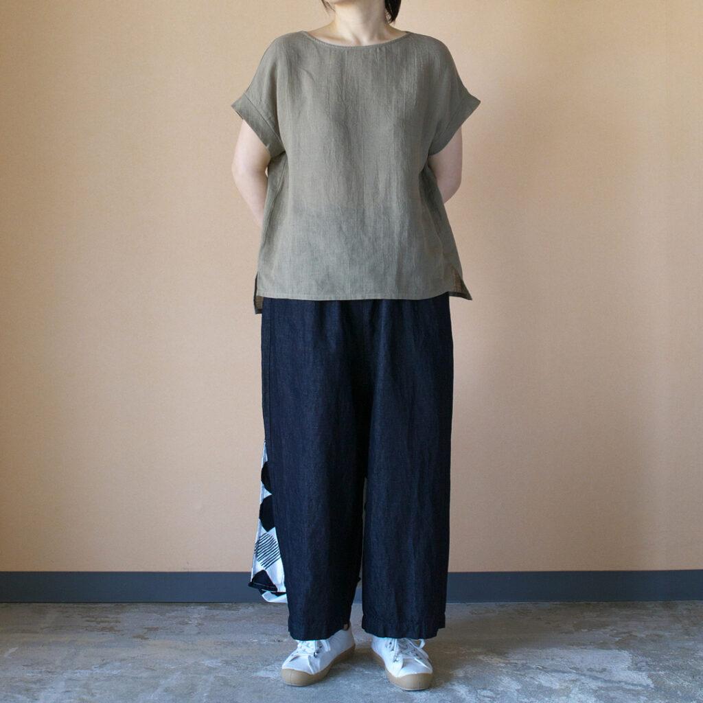 evam eva エヴァムエヴァ linen shirt pullover リネンシャツプルオーバー
