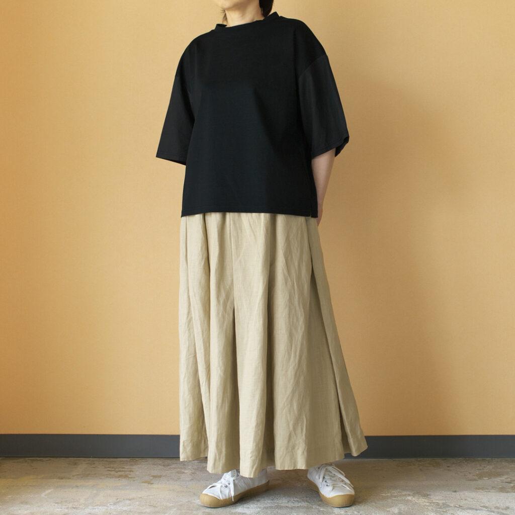 Gauze# ガーゼ G504 linen pleated skirt リネンプリーツスカート