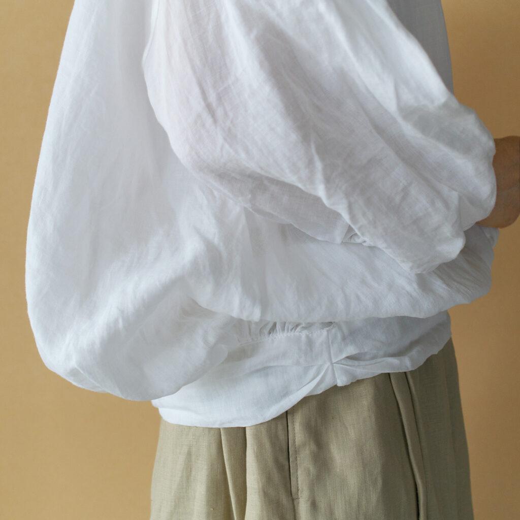 Gauze# ガーゼ G491 ramie linen baloon blouse ラミーリネンバルーンブラウス