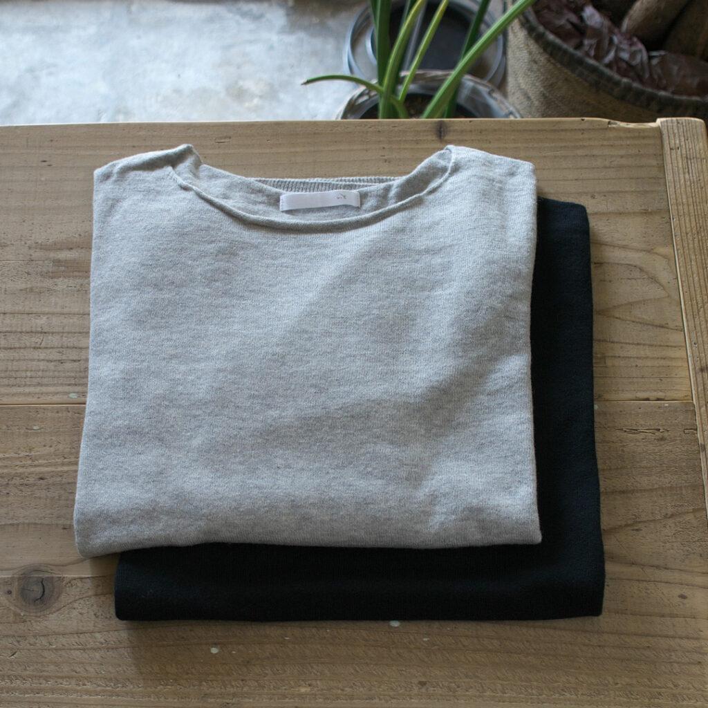 evam eva エヴァムエヴァ cotton cashmere