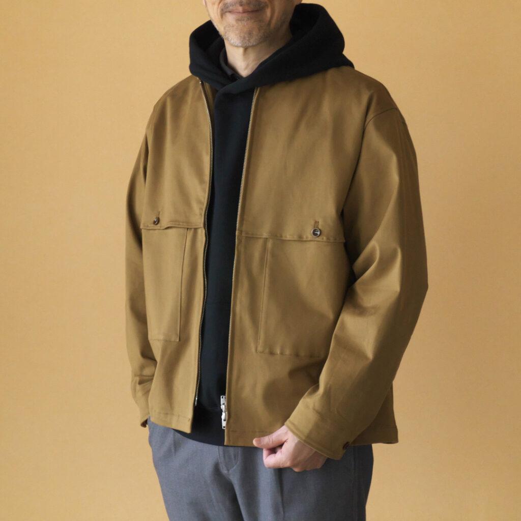 Manual Alphabet マニュアルアルファベット brushed stretch twill zip work jacket 起毛ストレッチツイルジップワークジャケット