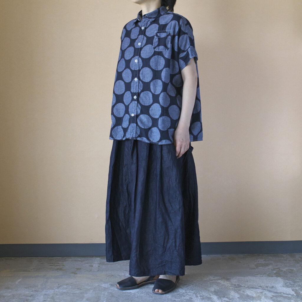 (g) グラム g012DL ライトデニムワンショルダースカート