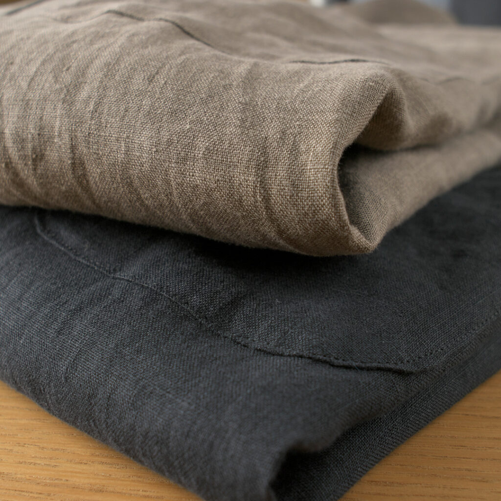 Manual Alphabet マニュアルアルファベット リネンバンドカラーシャツ linen band collar shirt