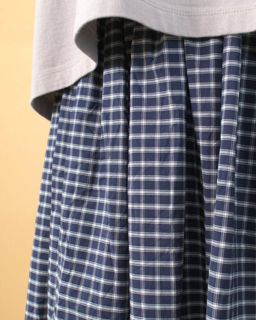 (g) グラム g251A small lattice gather skirt スモールラティスギャザースカート