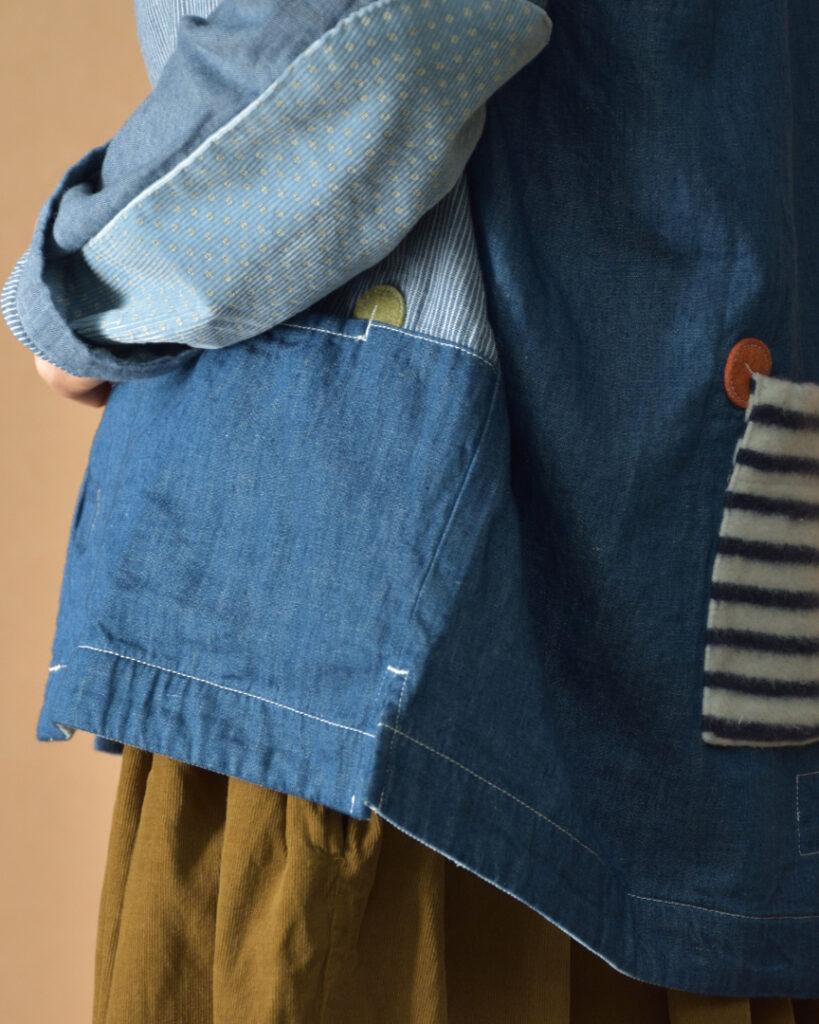 快晴堂 カイセイドウ 接結パッチワークカバーオールジャケット 20周年記念企画