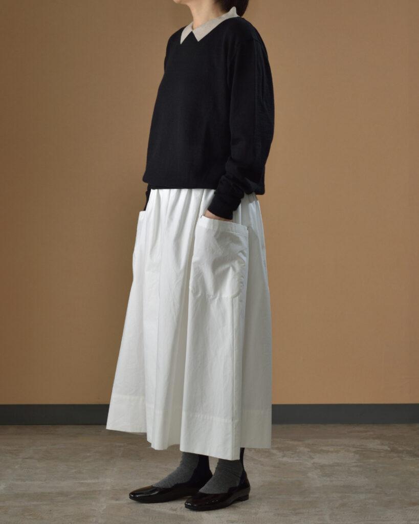 atelier naruse アトリエナルセ コットンウール衿つきニット